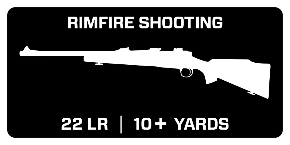 Recommended for Rimfire Shooting - 22LR at 10+ yards