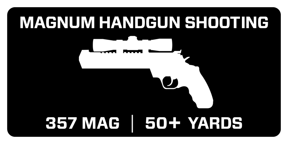 Recommended for Magnum Handgun Shooting - 357 mag at 50+ yards